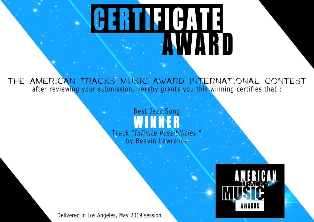Jazz-American Tracks-certificate